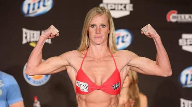 Photo of female UFC fighter, Holly Holm.